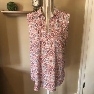 Loft sleeveless print blouse